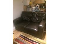 2 Seat Leather Sofa Bed