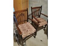 2 x Dining table arm chairs
