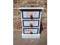 Painted Bedside Chest of Drawers