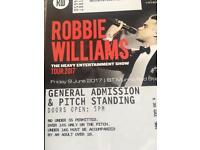 2 x Robbie Williams tickets Edinburgh 9th June