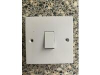 Job light light switches, plug sockets and ceiling roses