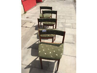 4 x Retro McIntosh dining chairs , Feel free to view Free local delivery.