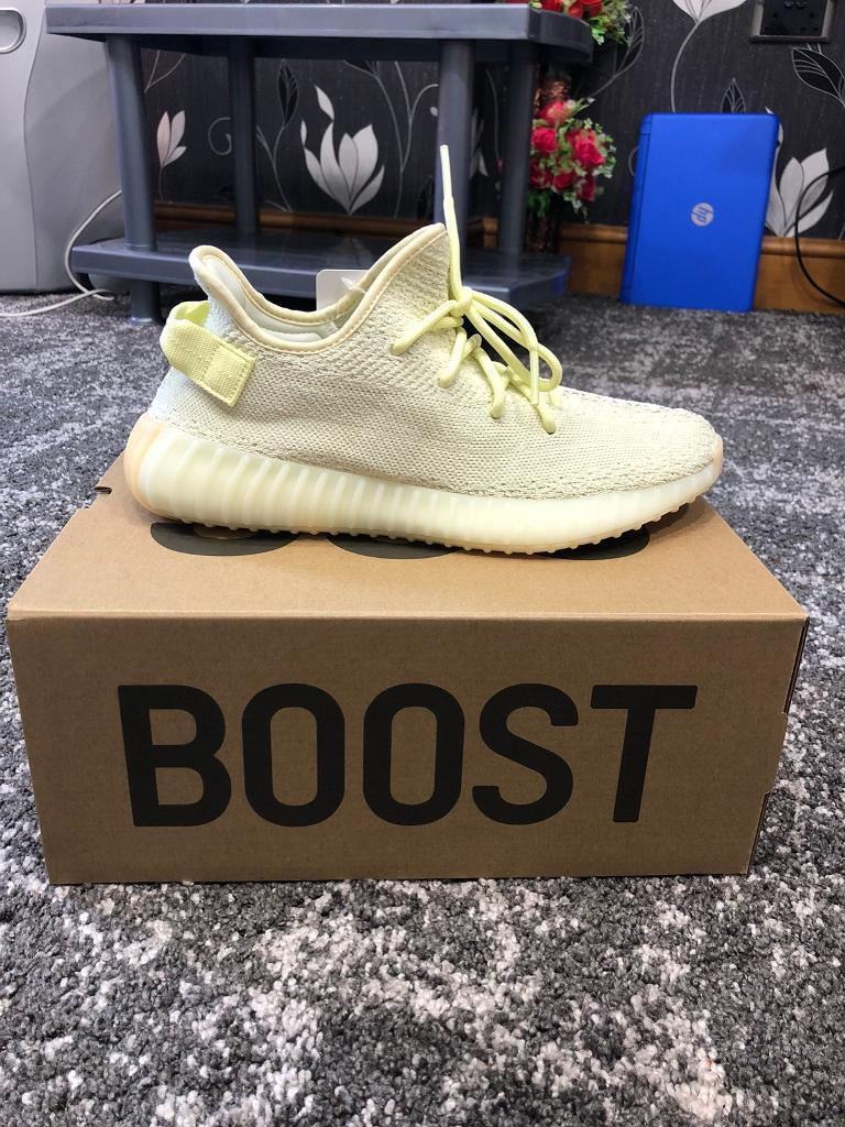 98b3739d11387 Adidas Yeezy Boost 350 V2   BUTTER   Trainers UK Size 8  JUST ARRIVED NOW