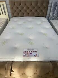 Aloe Vera 1000 Pocket sprung and Memory Foam mattress Double or Kingsize