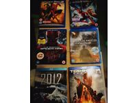 6 Blu ray titles for sale