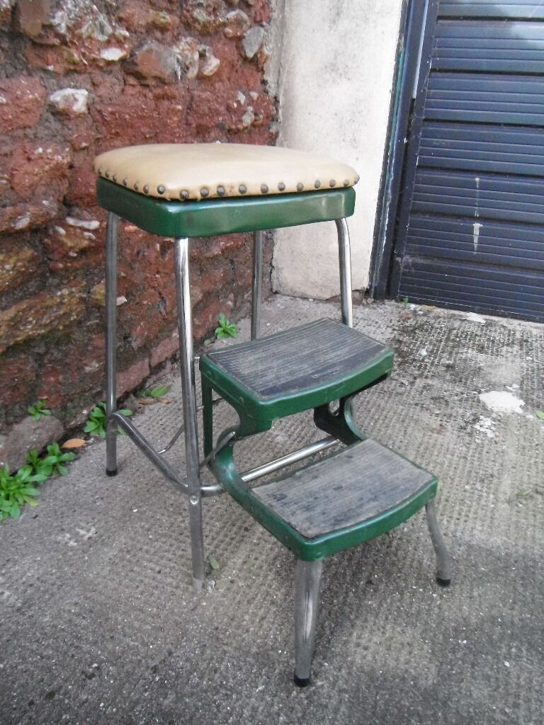 Vintage Prestige Stool Steps Retro Pair Of Kitchen Office