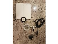 Indoor TV Antenna Kit - with signal amplifier and cables - £20