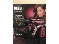 BRAUN SATIN HAIR 7 HD 770 COLOUR SAVER HAIR DRYER WITH DIFFUSER