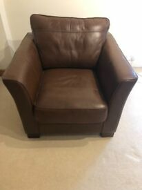 Leather easy chair
