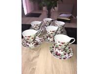 6 mug and plate porcelain