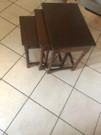 Neat if tables -dark oak