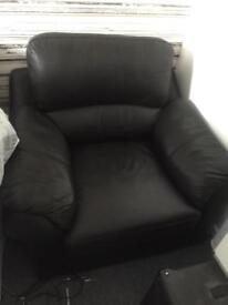 Italian leather arm chair