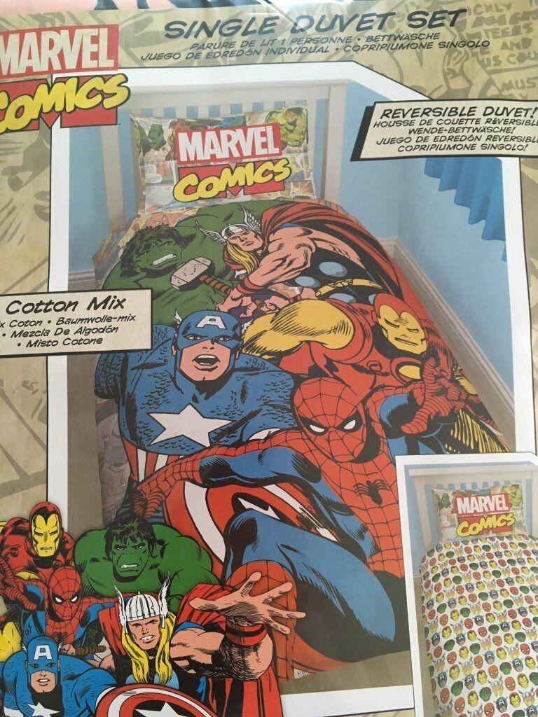 Marvel superhero single duvet - BRAND NEW