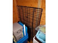 """48"""" dog crate with plastic tray"""