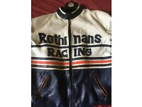 Rothmans leather racing jacket