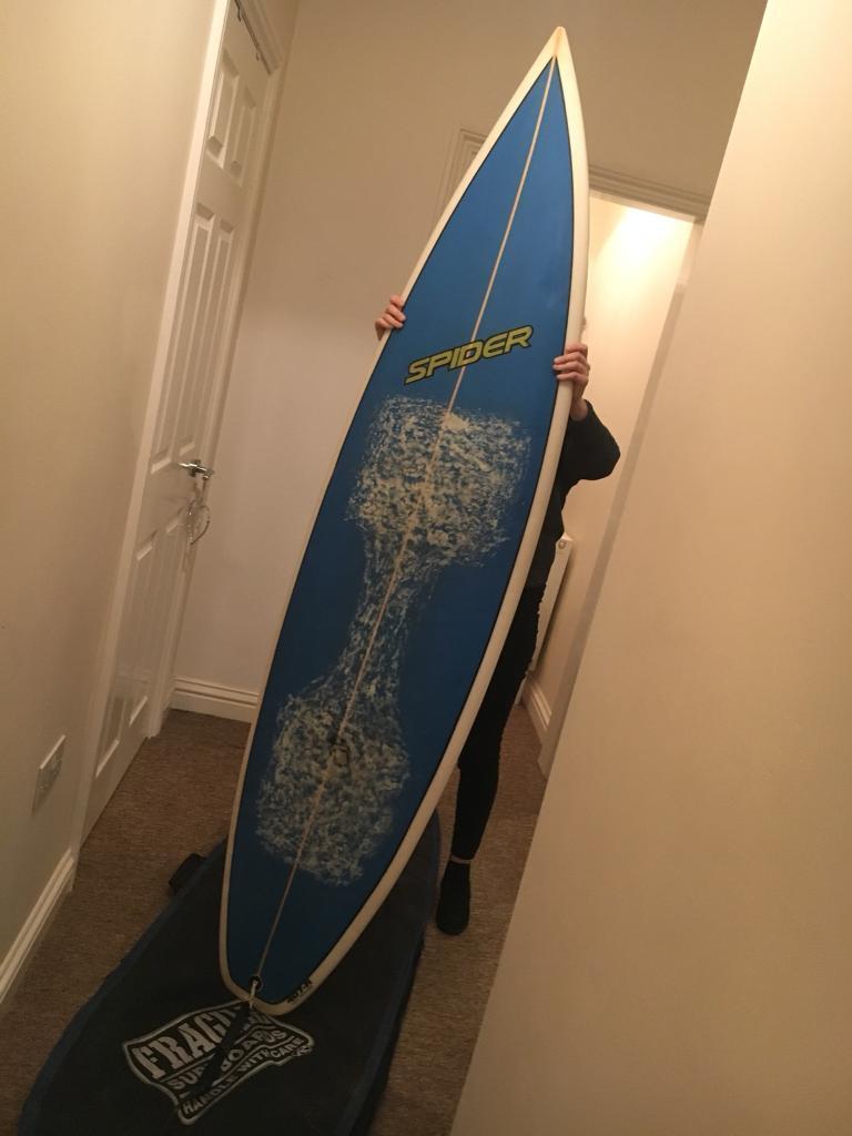 6 8 Spider Surfboard Bag Leash 3x Fins