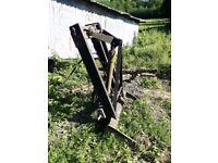 Tractor rear loader bale loader dung loader