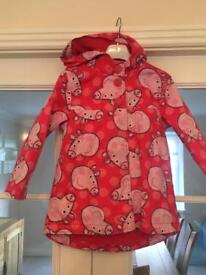 Peppa Pig Coat Age 4-5 year's from Next