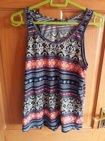Bright patterned summer top