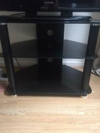 Black glass tv stand £10