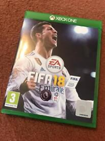 FIFA 18 for Xbox one standard version hardly used