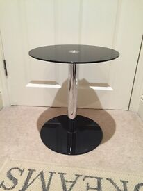 Round glass occasional table