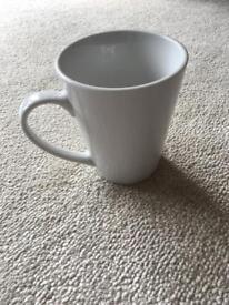 New 6 white mugs