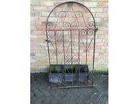Metal gate garden side back front used tlc