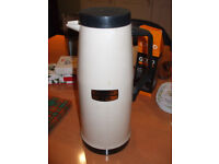 Large white thermos flask