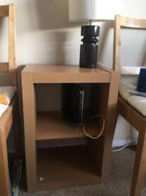 shelf with lamp