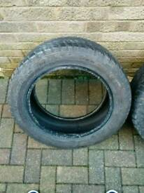 REDUCED - 2 x Dunlop SP winter sport m3 winter tyres for sale