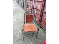 GENUINE HAND MADE LEATHER CHAIR