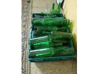 Glass bottles empty and clran