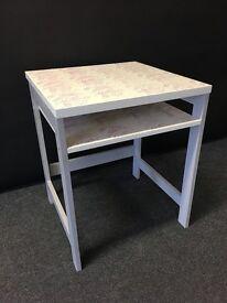 Upcycled Desk Pink Floral Pattern
