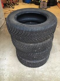 Four (4) lassa snoways winter tyres. 205/65R16C. Hardly used. Selling as changed car.
