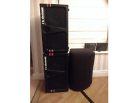 2x TC Electronic K210 Bass cabs