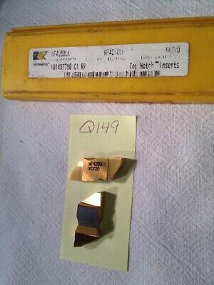 3 New Kennametal Top Notch Nf 4250lk Carbide Inserts. Grade Kc720. Q149