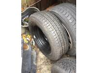 May storm tyre on steel rim brand new