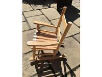 Child/toddler pine rocking chair