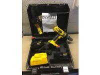 Dewalt XRP 18v combi drill+ batteries, charger and case.