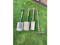 Various garden tools for sale