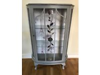 Shabby chic fronted glass display cabinet