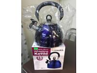 Brand new whistling kettles