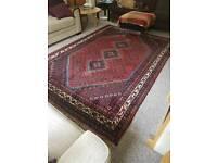 Pure wool Persian rug / carpet 9ft 3 x 6ft 7