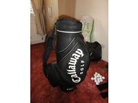 "Callaway Golf 10""Pro Staff Cart Bag, c/w matching umbrella."