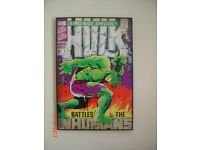 Hulk Poster from the Marvel Comics. Battle The Inhumans. Can Deliver. Size 63 x 93cms.
