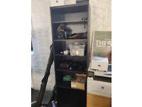 Ikea Bookcase, black.