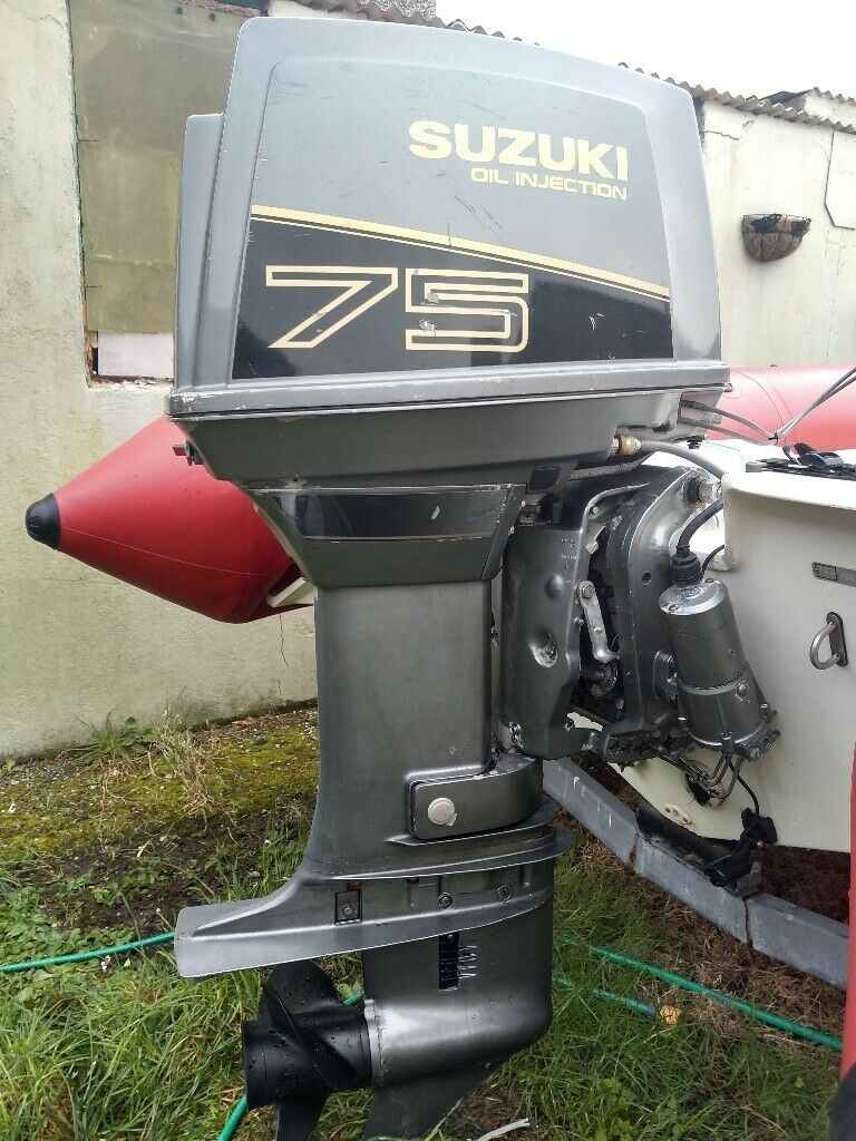 outboard 75hp suzuki 2 stroke with power tilt and trim | in Helston,  Cornwall | Gumtree