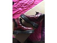 Dr Marten size 12 boots (oxblood), extra thick sole