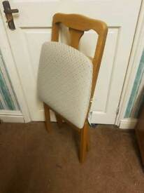 Foldable dining chairs x 2